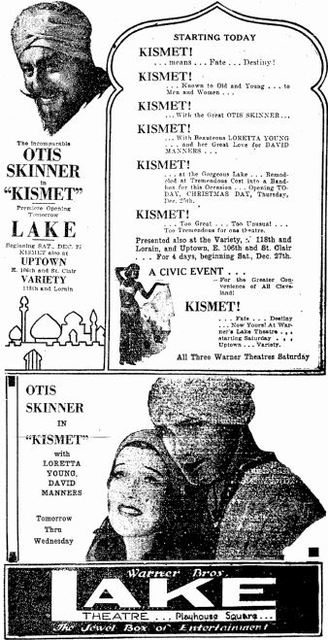 Grand opening ad from Christmas Day, 1930