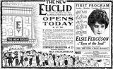 Grand opening ad from April 20th, 1919