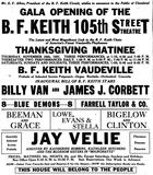 November 20th, 1921 pre opening ad