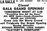 Reopening ad from September 29th, 1949