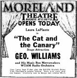 Moreland grand opening ad from January 12th, 1928