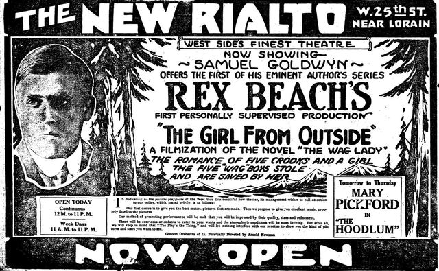 October 19th, 1919 grand opening ad
