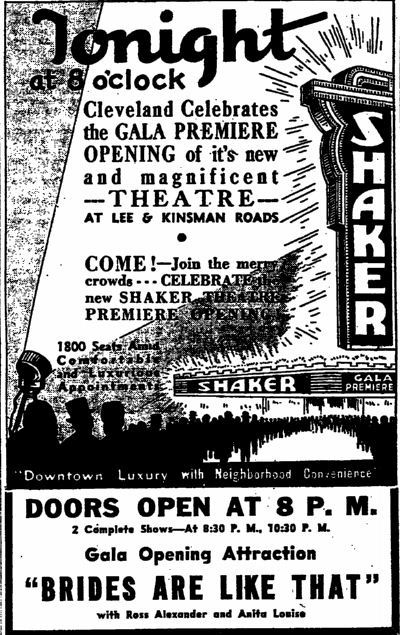 May 7th, 1936 grand opening ad
