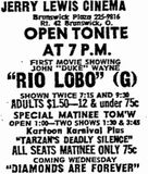 opening as Jerry Lewis February 20th, 1972