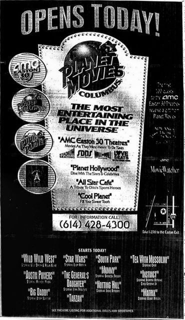 Grand opening ad from June 30th, 1999.