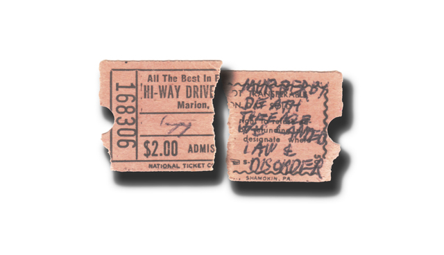 Ticket Stub for Hi-Way Drive-In