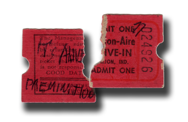 """It's Alive"" Ticket stub for the Marion-Aire"