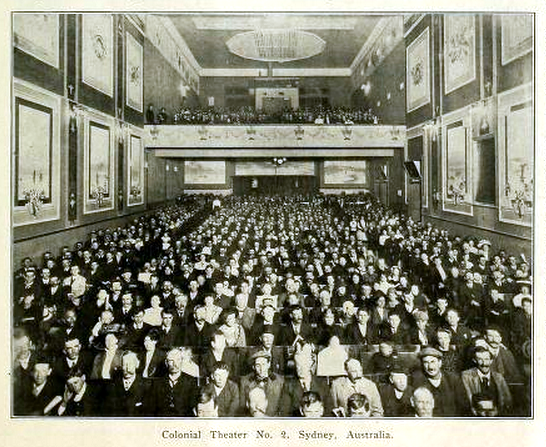 Colonial Theatre No 2, Sydney in 1911