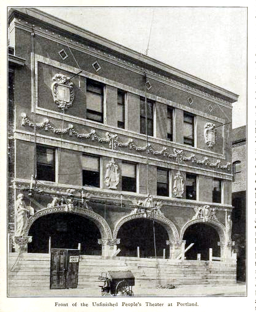 Peoples Theatre, Portland OR in 1911 (Under construction)
