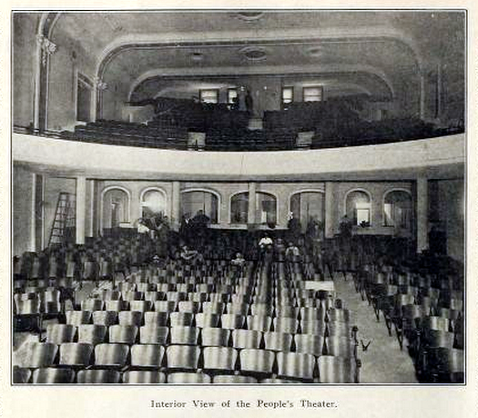 Peoples Theatre, Portland OR in 1911 - Interior