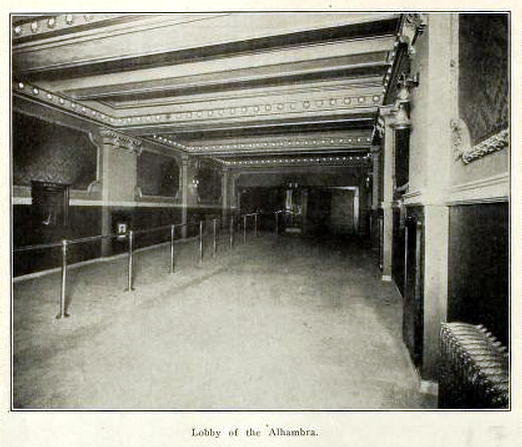 Alhambra Theatre, Cleveland OH in 1911 - Lobby