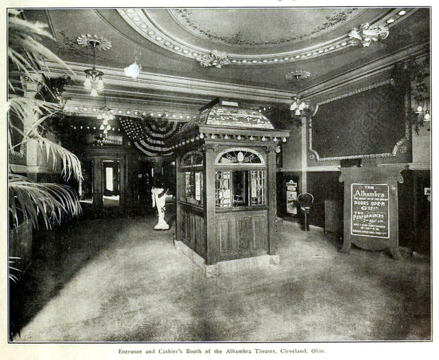Alhambra Theatre, Cleveland OH in 1911 - Entrance and Cashiers Booth