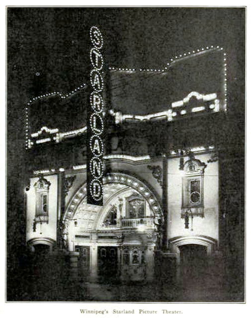Starland Theatre, Winnipeg, Canada in 1912
