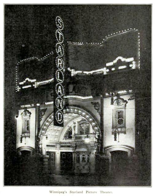 Starland Theatre, Winnipeg, Canada in 1912