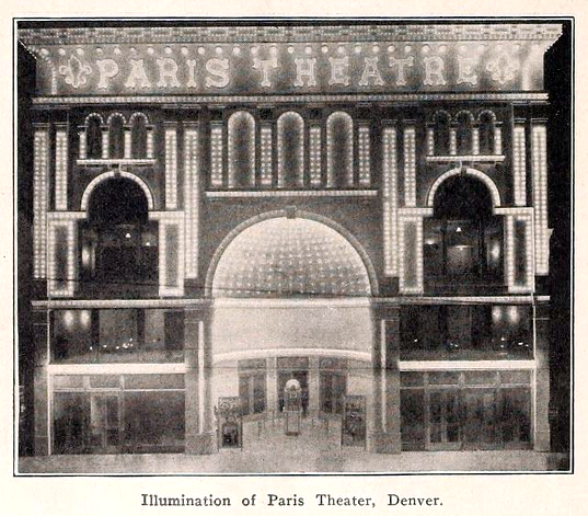 Paris Theatre, Denver Co in 1913