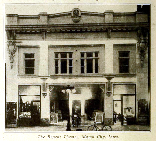 Regent Theatre, Mason City Iowa in 1914