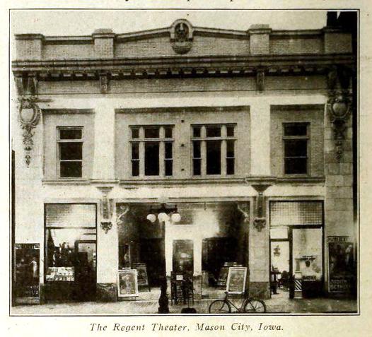 Regent Theatre, Mason City Iowa in 1914
