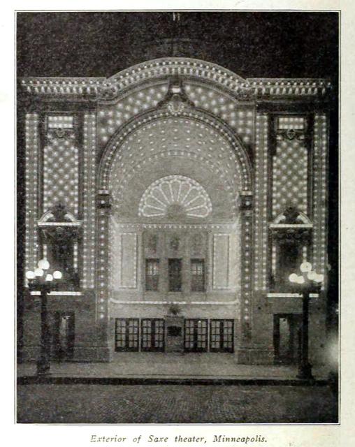 Saxe Theatre, Minneapolis 1914
