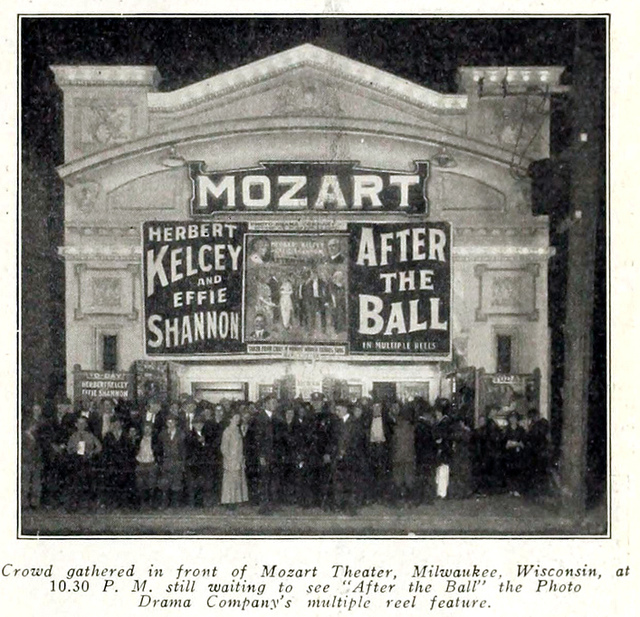 Mozart Theatre, Milwaukee, WI in 1914