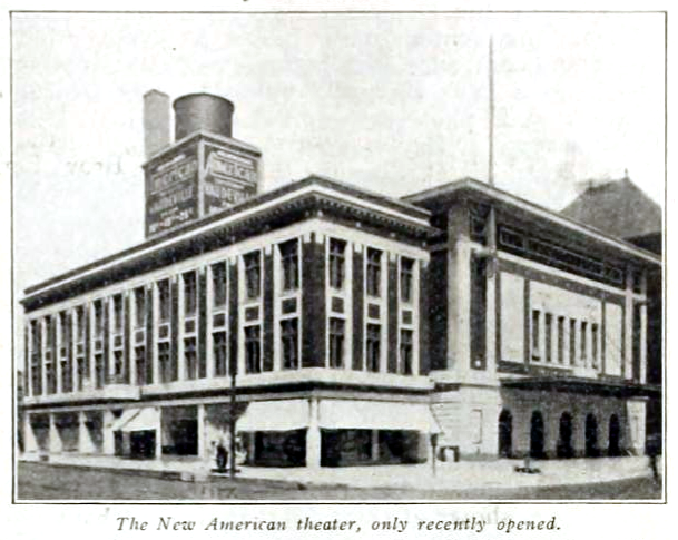 American Theatre, Chicago ILL in 1915