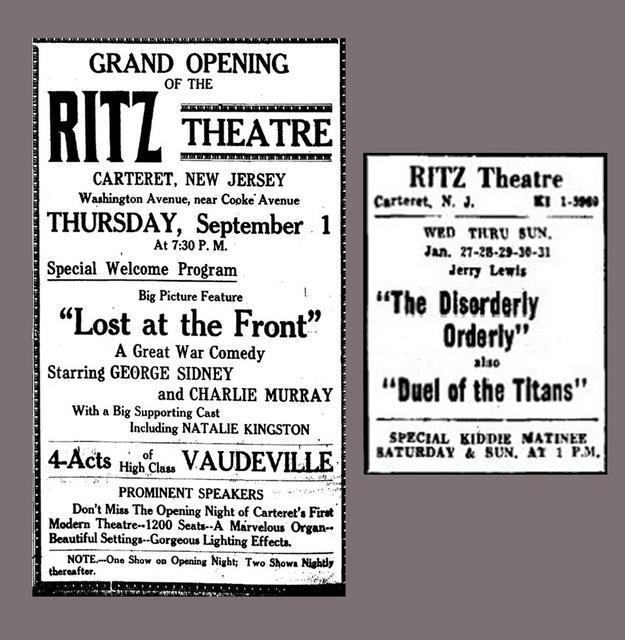Ritz Theatre, 2 Ads
