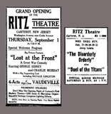 Ritz Theatre, 2 Ads