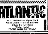 Atlantic Theater ad GWTW 1948