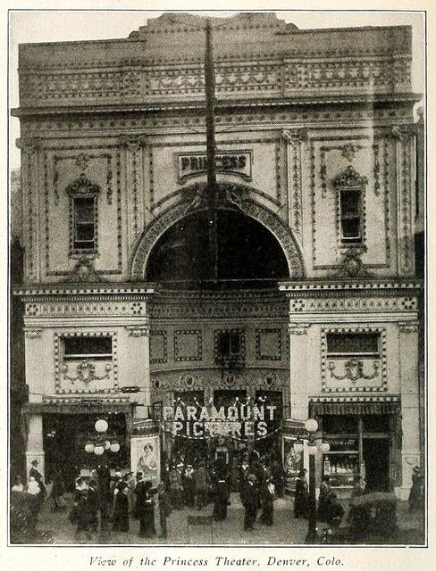 Princess Theatre, Denver CO in 1915
