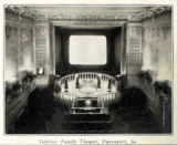 Family Theatre, Davenport IA in 1916 - Interior