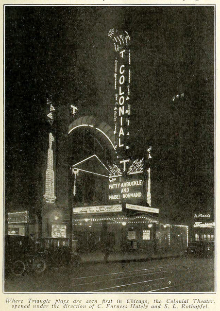 Colonial Theatre, Chicago ILL in 1916