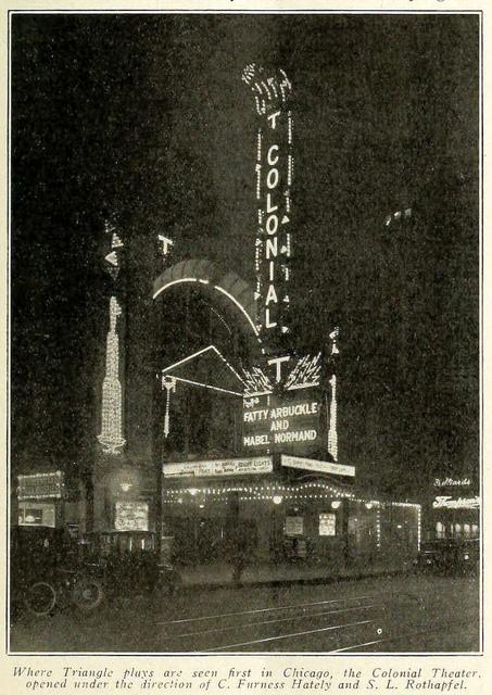 Colonial Theatre, Chicago ILL in 1916