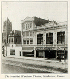 Wareham Theatre, Manhattan, Kansas in 1916 - Exterior