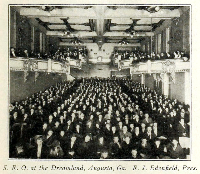 Dreamland Theatre, Augusta GA in 1916 - Interior