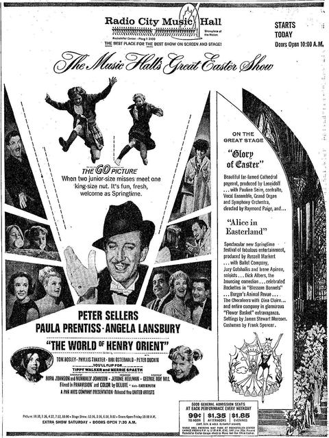 The World of Henry Orient opened  on March 19th, 1964.
