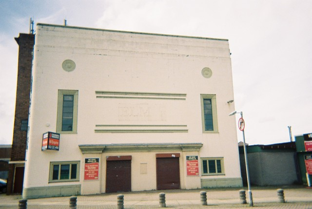 The now disused building.