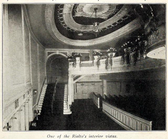 Rialto Theatre, Broadway, New York in 1916 - Interior