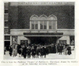 Parkway Theatre, Baltimore, Maryland in 1916
