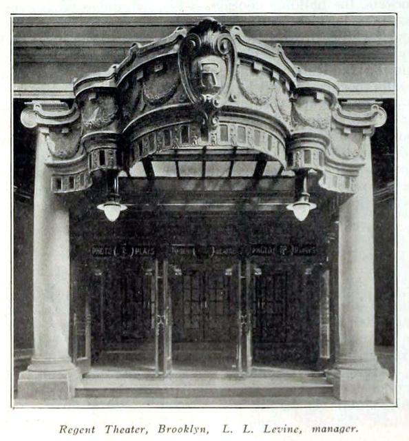 Regent Theatre, Fulton & Bedford, Brooklyn, New York in 1916