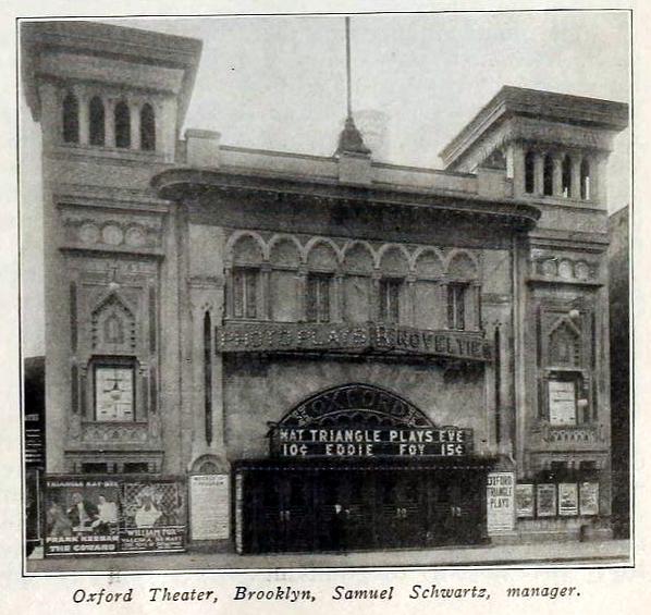 Oxford Theatre, State Street & Flatbush Avenue, Brooklyn, New York in 1916