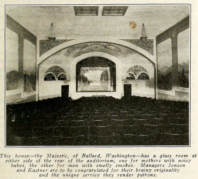 Majestic Theatre, Ballard, Washington in 1916