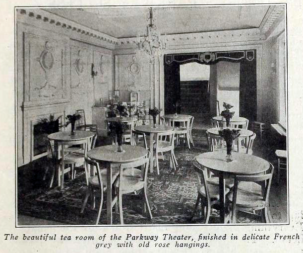 Parkway Theatre, Baltimore, Maryland in 1916 - Tea Room