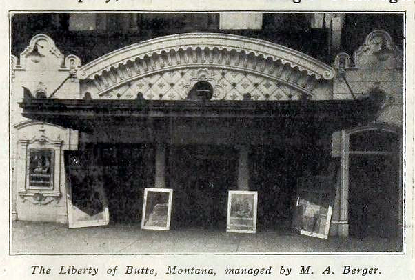 Liberty Theatre, Butte, Montana in 1916