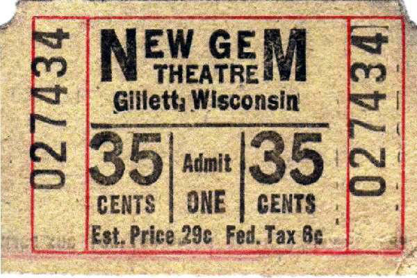 GEM Theatre; Gillett, Wisconsin.