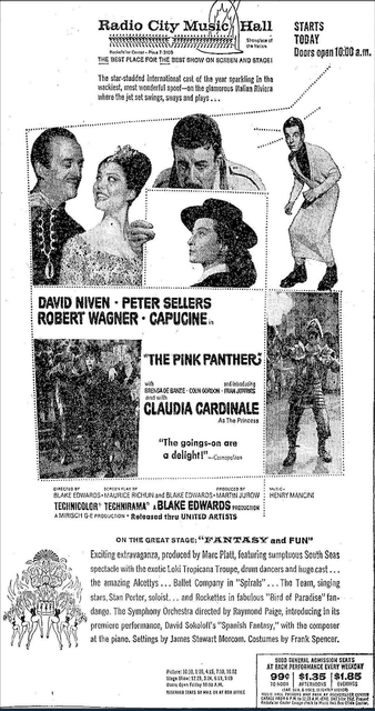 The Pink Panther opened on April 23rd, 1964