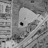 Historic Aerial of first Summer Drive-In