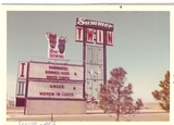 Original marquee and signs from the Summer Drive-In