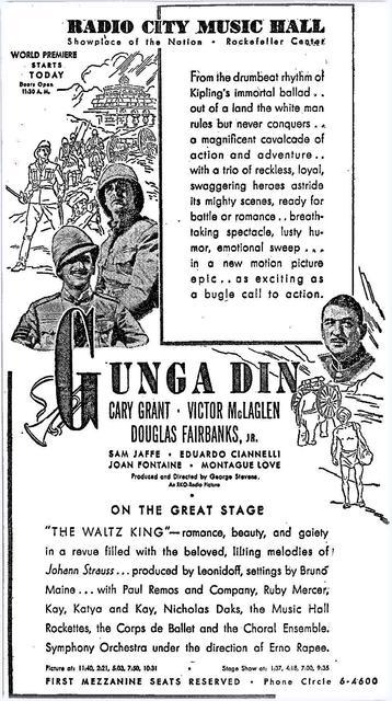 Premier of Gunga Din
