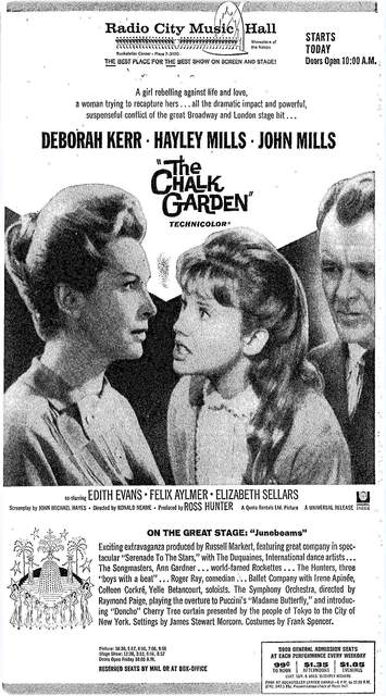 """The Chalk Garden"" opened on May 21st, 1964."
