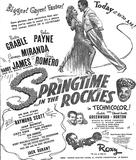 Springtime in the Rockies opening; 11/11/42 ad
