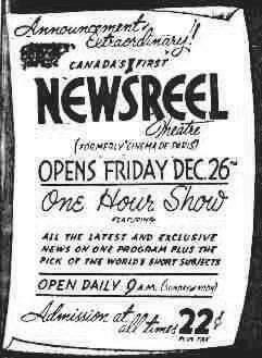 December 26th, 1941 announcement as Newsreel